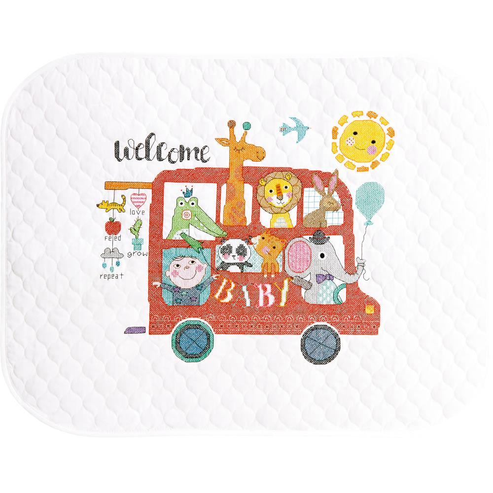 Baby On Board Quilt From Dimensions Stitchlets Cross Stitch Kits