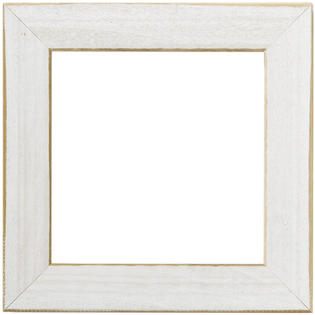 "Mill Hill Antique White 6"" Frame"