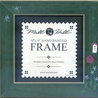 """Mill Hill Matte Green with Birdhouse 6"""" Frame"""