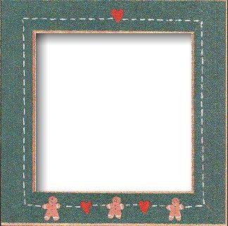 """Mill Hill Matte Green Gingerbread Hearts 6"""" Frame"""