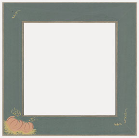 """Mill Hill Matte Green with Pumpkins 6"""" Frame"""