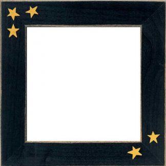 "Mill Hill Matte Black with Primitive Stars 6"" Frame"