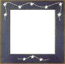 "Mill Hill Matte Blue Stars & Stitches 6"" Frame"