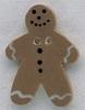 Mill Hill Ceramic Button 86002 Gingerbread Man