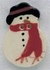 Mill Hill Ceramic Button 86003 Snowman
