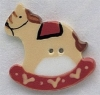 Mill Hill Ceramic Button 86004 Large Rocking Horse