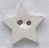 Mill Hill Ceramic Button 86012 Small White Star