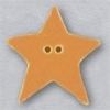 Mill Hill Ceramic Button 86404 Large Tangerine Star