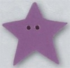 Mill Hill Ceramic Button 86405 Large Lilac Star