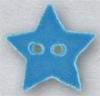 Mill Hill Ceramic Button 86406 Small Aqua Star