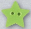 Mill Hill Ceramic Button 86407 Small Lime Star