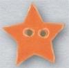 Mill Hill Ceramic Button 86408 Small Tangerine Star