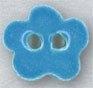 Mill Hill Ceramic Button 86410 Aqua Posy Flower