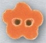 Mill Hill Ceramic Button 86411 Tangerine Posy Flower