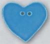 Mill Hill Ceramic Button 86413 Large Aqua Heart