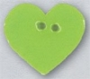 Mill Hill Ceramic Button 86414 Large Lime Heart