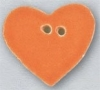 Mill Hill Ceramic Button 86415 Large Tangerine Heart