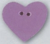 Mill Hill Ceramic Button 86416 Large Lilac Heart