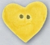 Mill Hill Ceramic Button 86417 Large Bright Yellow Heart