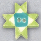 Mill Hill Ceramic Button 86426 Lime Ohio Star