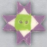 Mill Hill Ceramic Button 86427 Lilac Ohio Star