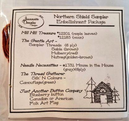 Northern Shield Sampler Embellishment Pack