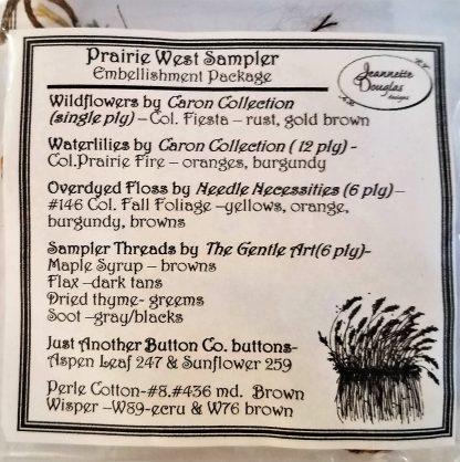 Prairie West Sampler Embellishment Pack