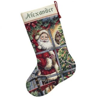 Candy Cane Santa Stocking from Dimensions