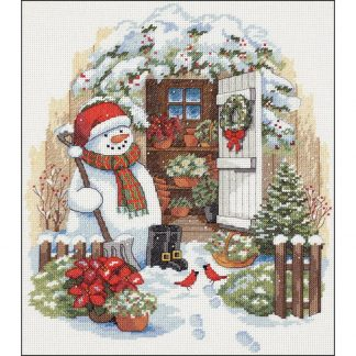 Garden Shed Snowman from Dimensions