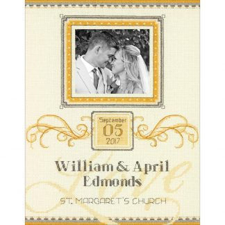 Elegant Flourish Wedding Record from Dimensions