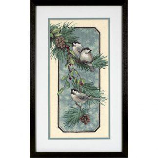 Chickadees on a Branch