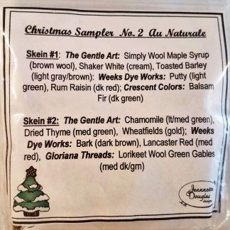 Christmas Sampler Au Naturale Emb Pack