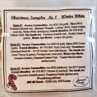 Christmas Sampler Winter White Emb Pack