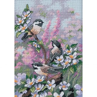 Chickadees in Spring fro Dimensions