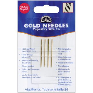 DMC Gold Tapestry Needles size 24
