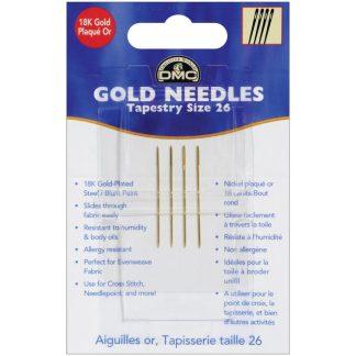 DMC Size 26 Gold Tapestry Needles